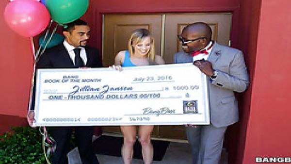 Jillian Janson ganó una lotería y se folló a dos anfitriones negros