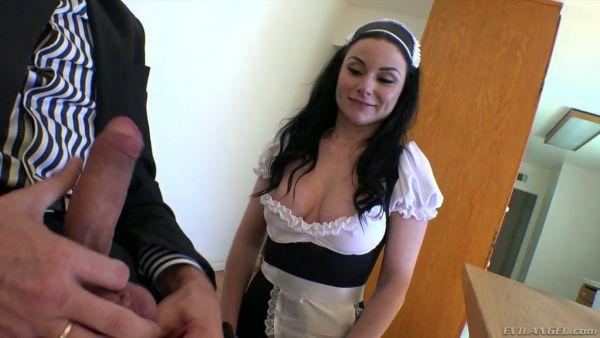 Sucio anal golpeando con zorra francés de la criada de Veruca James